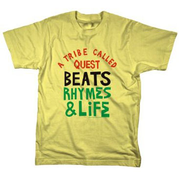 MERCH DIRECT / A Tribe Called Quest - Beats, Rhymes And Life (T-Shirts/Yellow)