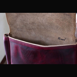 フェルナンドレザーFernand Leahter/ clutch bag #wine