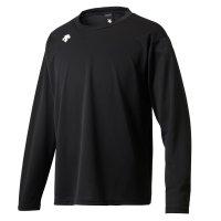 デサント(DESCENTE) ワンポイントロングスリーブシャツ (カラー【BLK】ブラック)