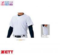 ゼット(ZETT)メッシュプルオーバーシャツ(カラー【1100】ホワイト)