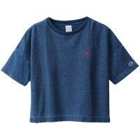 Champion(チャンピオン) レディース リバースウィーブTシャツ (カラー【326】ストーンウォッシュブルー)