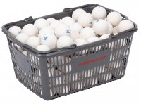 ダンロップ(DUNLOP) ソフトテニスボール練習球 10ダース入りバスケット(カラー【W】ホワイト)