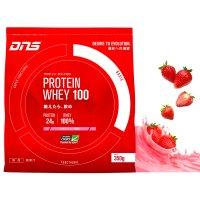 DNS プロテインホエイ100 【S】イチゴミルク風味 350g
