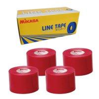 ミカサ(MIKASA)ラインテープ5cm幅 4巻入り(カラー【R】赤)