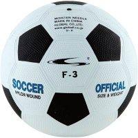 ラバーサッカーボール 3号(カラー【WBW】ホワイト/ブラック)