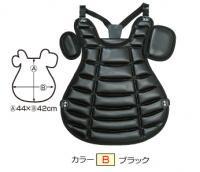 硬式吸震プロテクター(首掛ベルト付)(カラー【B】ブラック)