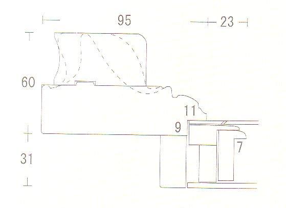 サンマルコ 金+黒 F4 高級油彩額縁  アクリル仕様 送料無料