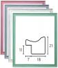 【木製】サンタモニカ 水彩・デッサン額 桃・灰・白・緑【15角】カジュアルでノスタルジック調なフレーム
