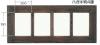 4864 ハガキ版4連 ガラス仕様 丸棒付 木製レトロ・アンティーク調
