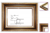 <img class='new_mark_img1' src='https://img.shop-pro.jp/img/new/icons25.gif' style='border:none;display:inline;margin:0px;padding:0px;width:auto;' />フロール ゴールド 40号【F/P/M/S】【大型商品※】(同梱不可・代引き不可商品※) 油彩額縁 アクリル仕様