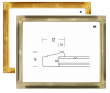 <img class='new_mark_img1' src='https://img.shop-pro.jp/img/new/icons1.gif' style='border:none;display:inline;margin:0px;padding:0px;width:auto;' />こはく F0マット付き※ インチ デッサン額縁 アクリル仕様 木製フレーム