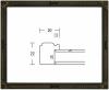 <img class='new_mark_img1' src='https://img.shop-pro.jp/img/new/icons1.gif' style='border:none;display:inline;margin:0px;padding:0px;width:auto;' />【木製】杉の葉 鉄黒 F6マット付き※ 大衣使用 デッサン額縁 アクリル仕様