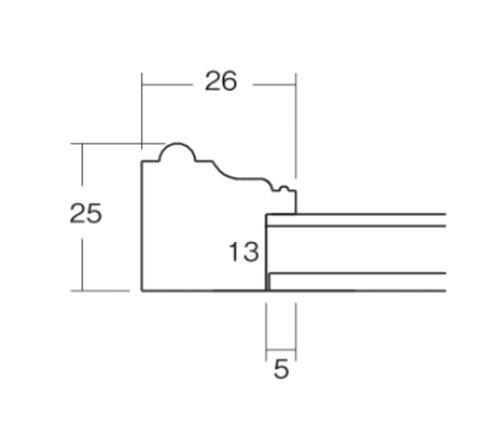 8131 アイボリー 小色紙 215×185  表面保護/UVカットアクリル おしゃれフレーム
