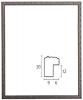 【木製】ジュリエット 銀黒 【A4(210×297mm)】アンティーク調のフレーム