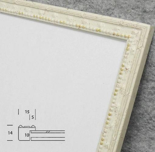 梅小紋 15cm角 デッサン額縁 アイボリー アクリル仕様