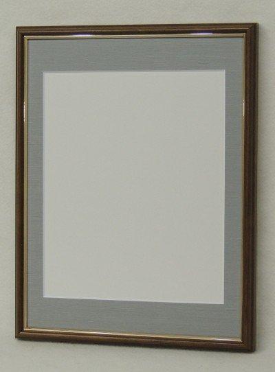 5702 ブラウン 太子サイズ 写真四つ切対応マット付デッサン額縁