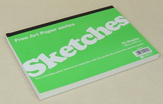 オリオン Sketches B4サイズ 126g 70Sheets 364×257mm パステルアートに人気の高いスケッチブック