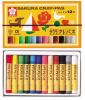 サクラ LP クレパス太巻 12色 ゴムヒモ付ケース