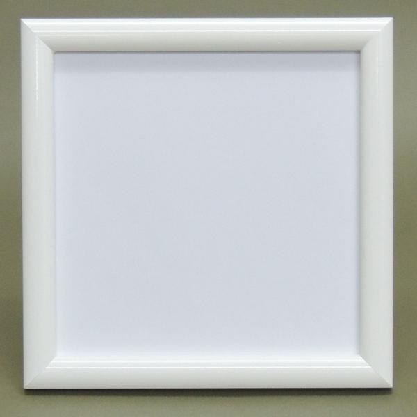 パステルアート用額 15センチ角 カマボコ白 箱なし スタンド付  パステルアートに人気
