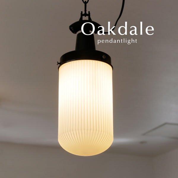 ペンダントライト レトロ LED ガラス [Oakdale/ホワイト]