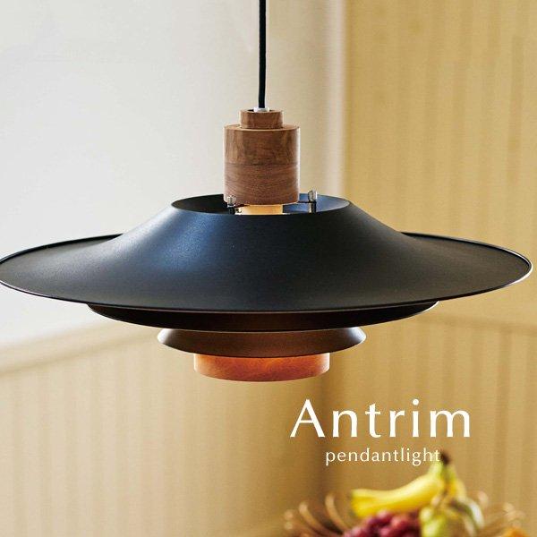 ペンダントライト 北欧 照明器具 1灯 [Antrim/ブラック]