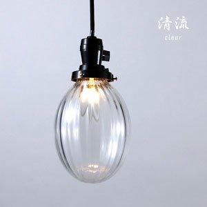 ペンダントライト 照明器具 和風 [清流/クリア]