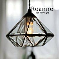 1灯ペンダントライト LED電球 ガラス 照明 [Roanne]