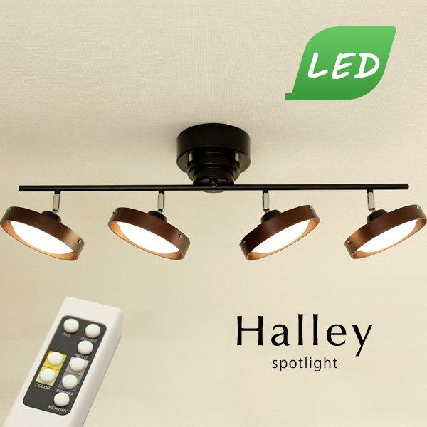 LED 4灯スポットライト リモコン付き [Halley/ブラウン]