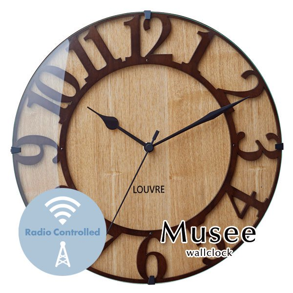 ウォールクロック 木製 ウッド 掛時計 [Musee]