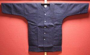 東京小粋 鯉口シャツ<br>刺子 藍染