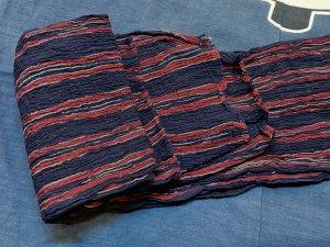 もめんちぢみ巻帯 紫