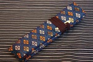 篠笛袋 菊紋