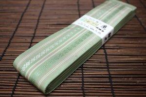 平ぐけ帯 正絹 (萌黄)