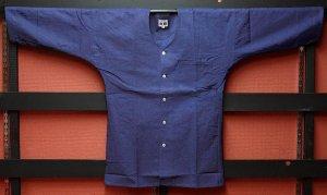 東京小粋 藍染鯉口シャツ