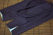 腕貫手甲 藍染(長手甲)<br>【刺子三枚馳】