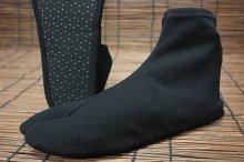 《足袋ワーカー 黒》<br>ナイロン100%ストレッチ