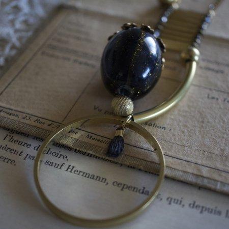 古代ブラックインカネックレス