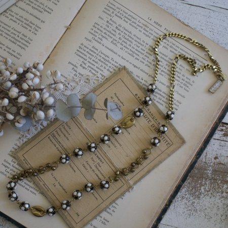 パンダロンデルとチェーンのネックレス by Unaca