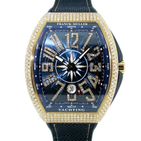 new product d1aca 40934 【新品】FRANCK MULLER(フランクミュラー)ヴァンガード ヨッティング アフターダイヤモンド V45SCDT 5NBL - 六本木  時計専門店PROUD(プラウド)