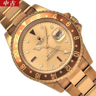 【中古】ROLEX(ロレックス) GMTマスターII X番 16718RG