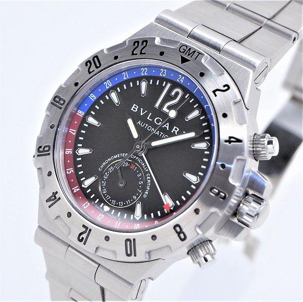 【中古】BVLGARI(ブルガリ) ディアゴノ プロフェッショナル スクーバ GMT GMT40SSD