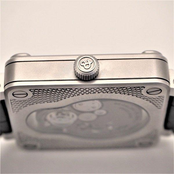 【中古美品】Bell & Ross(ベル&ロス) BR01 ラフィングスカル 世界500本限定 BR01-SKULL-SK-ST