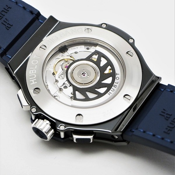 【新品】HUBLOT(ウブロ) ビッグバン セラミック ブルー ダイヤモンド 41mm 341.CM.7170.LR.1204