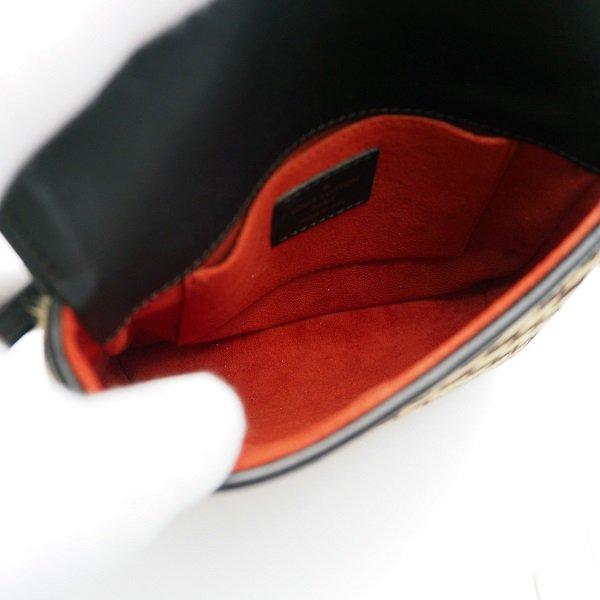 【中古】LOUIS VUITTON(ルイヴィトン) ガゼル ショルダーバッグ ダミエソバージュ ハラコ 茶 エベヌ ポシェット ポーチ M92130