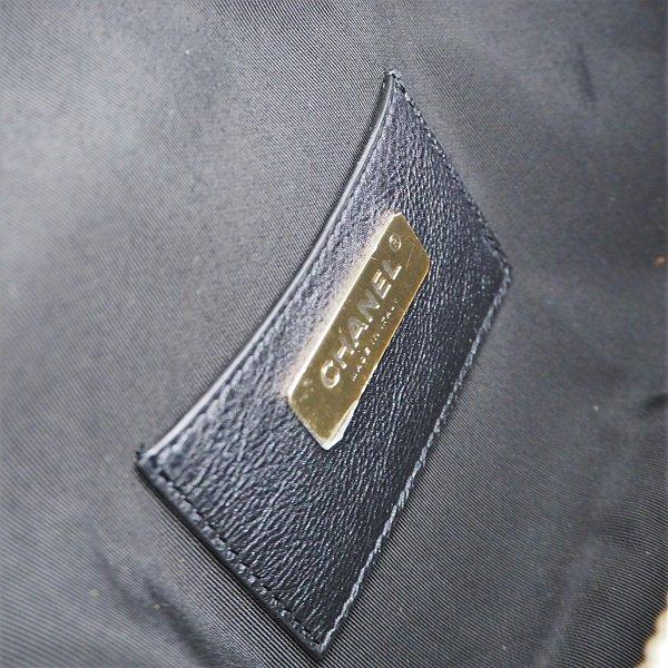 【未使用】CHANEL(シャネル) ウエストバッグ ブラック×ゴールド金具 AS0556