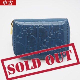 【中古】Christian Dior(クリスチャン ディオール) コインケース エナメルコーティング ブルー グリーン  S0095G EPC 597U
