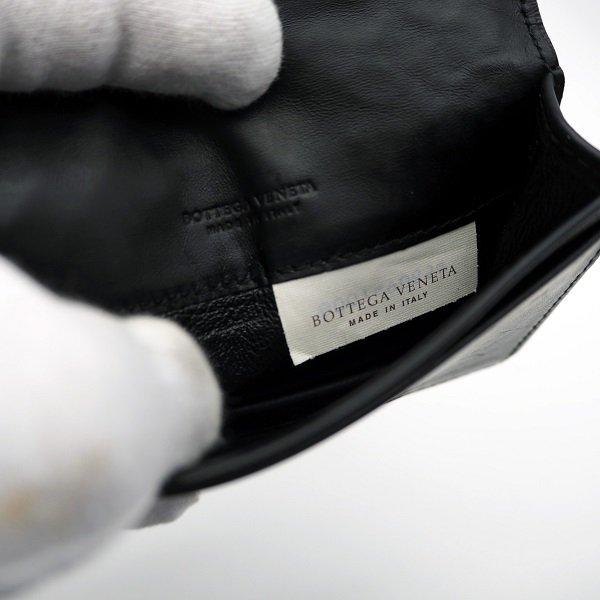 【中古】BOTTEGA VENETA(ボッテガ ヴェネタ) イントレチャート 名刺入れ ブラック 174646 V4651 1000