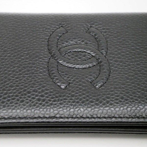 【中古美品】CHANEL(シャネル) カードケース ココマーク ブラック A80821