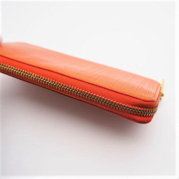 【中古】LOEWE(ロエベ) ラウンドジップ 長財布 オレンジ 101N88.F13