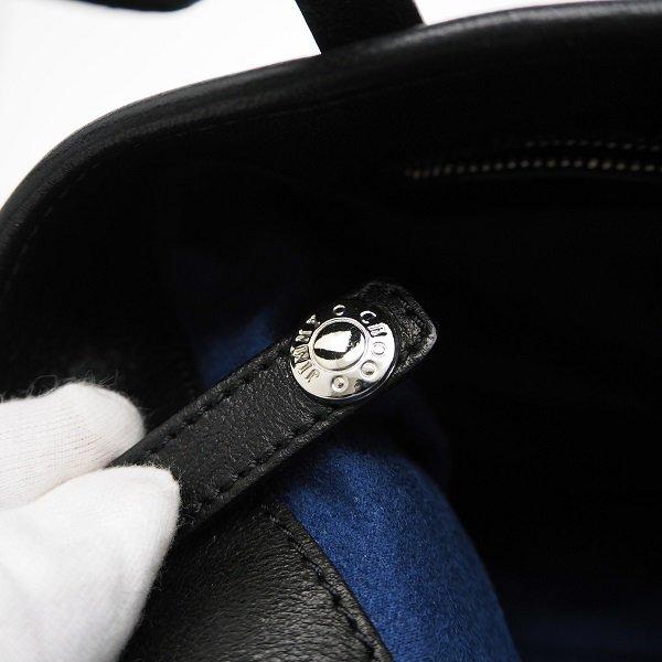 【中古】JIMMY CHOO(ジミーチュウ) サシャ トートバッグ S ブラック SASHA S TSU 153